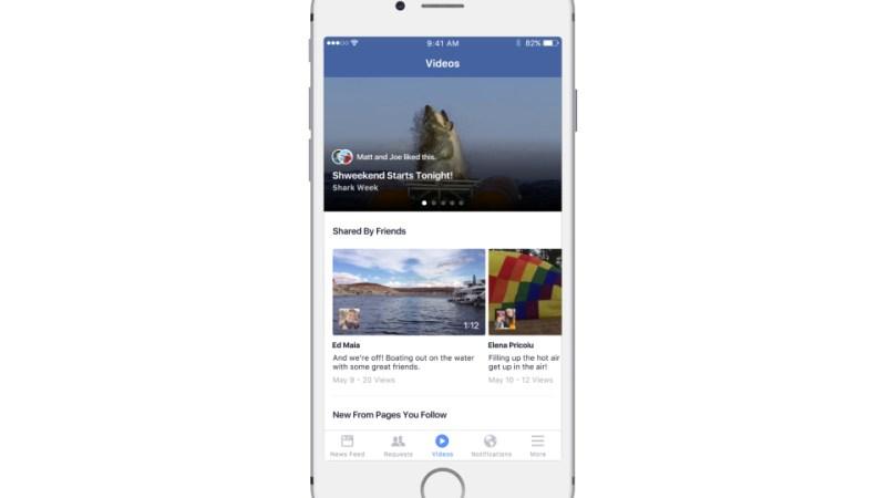Facebook video tabblad