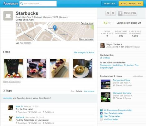 Starbucks Stuttgart - Brand Page