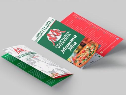 Carta de Menú Pizzeria Mamma Mia