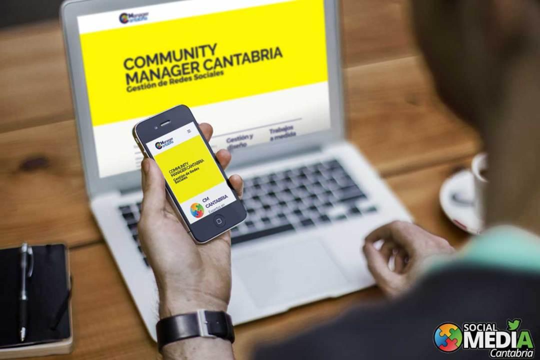 Diseño web community manager cantabria