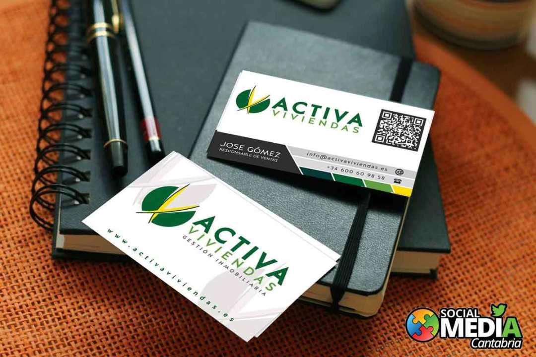 Activa-viviendas---Diseno-tarjetas-de-visita-Social-Media-Cantabria