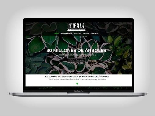 Web 30 Millones de Árboles