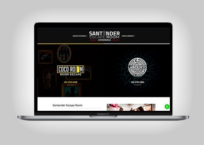 Web Santander Escape Room