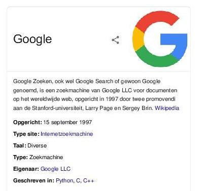 Wat is Google Zoeken?
