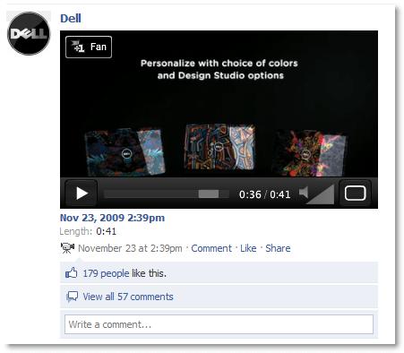 Dell on facebook
