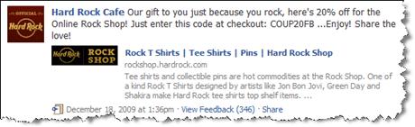 Hard Rock Cafe on Facebook