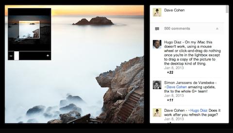 Google + Foto-Zoom