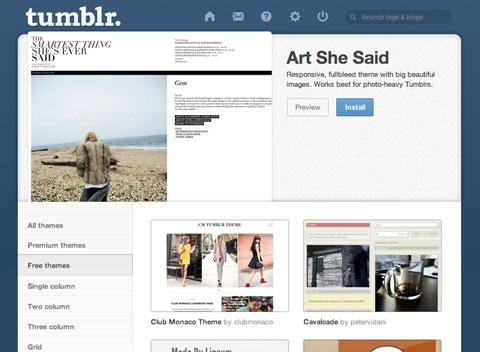 Tumblr-Themen