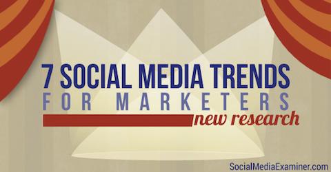 Social Media Trends für Vermarkter