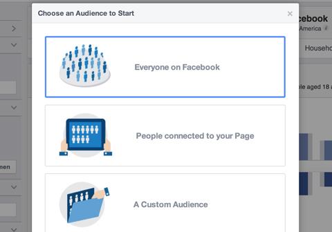 Optionen für die Erstellung von Facebook-Publikumseinblicken