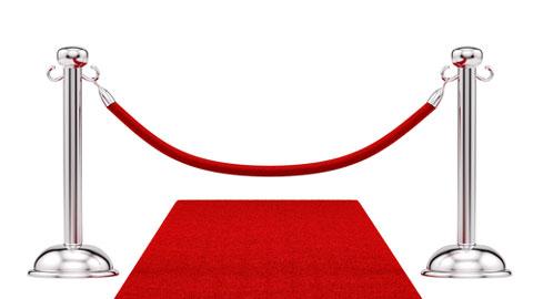 Shutterstock 103168676 Bild von rotem Teppich und Samtseil