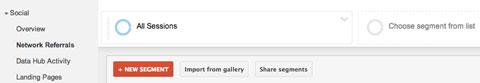 Fügen Sie ein Segment in den Google Analytics-Bericht ein