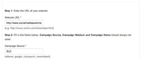 slc Kampagnenmarker im Google URL Builder