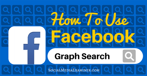 Verwenden Sie die Facebook-Diagrammsuche