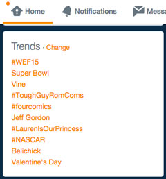 Trends auf Twitter