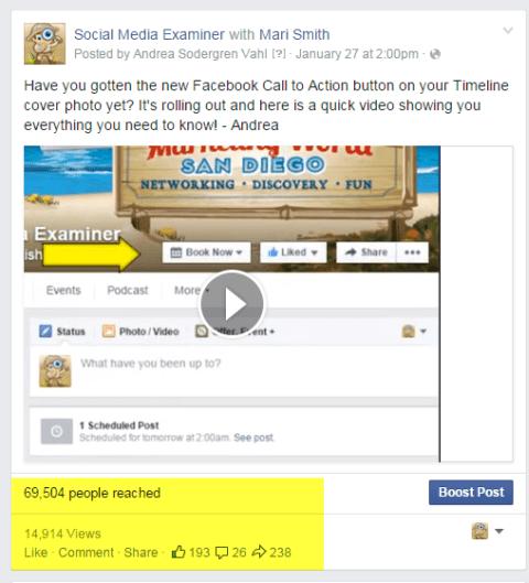 Social Media Prüfer Videopost auf Facebook