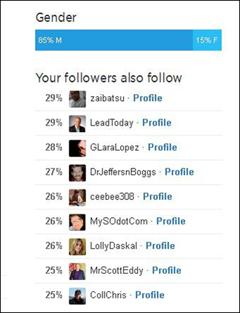 Twitter Analytics-Benutzer folgen