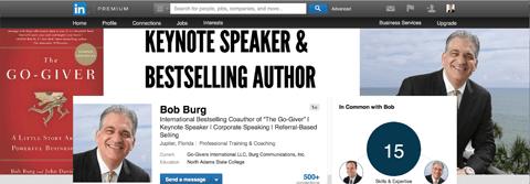 Bob Burg Linkedin Hintergrund