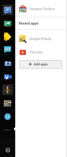 google + hangouts linkes Bedienfeldbild