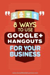 Verwenden Sie Google + Hangouts für Unternehmen