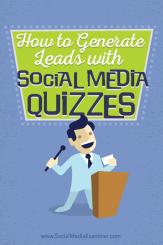 wie man Leads mit Social Media Quiz generiert