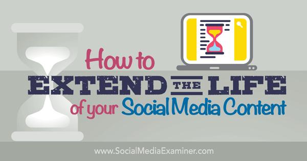 Verlängern Sie die Lebensdauer Ihrer Social-Media-Inhalte