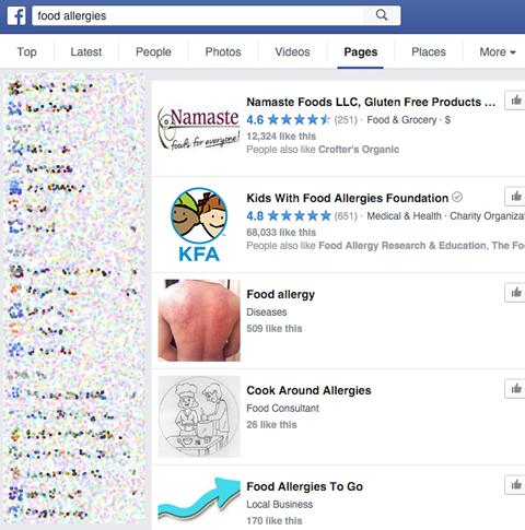 Facebook Influencer Suche