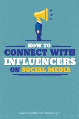 wie man sich mit Influencern verbindet