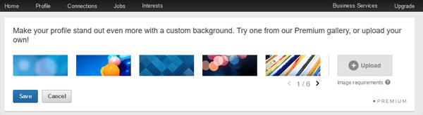premium linkedin profile background image options