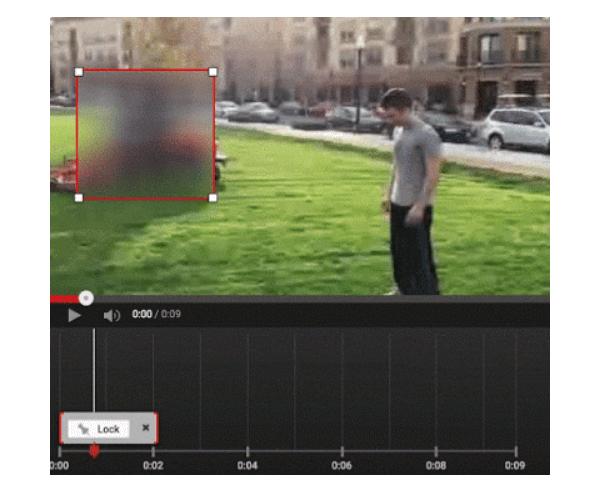 Youtube benutzerdefiniertes Unschärfe-Tool