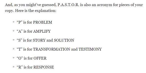 pastor acronym
