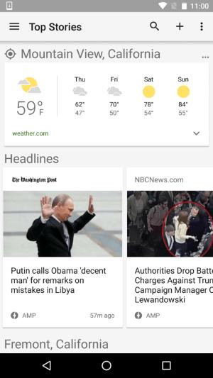 google news amp