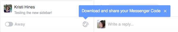 facebook messenger for business codes