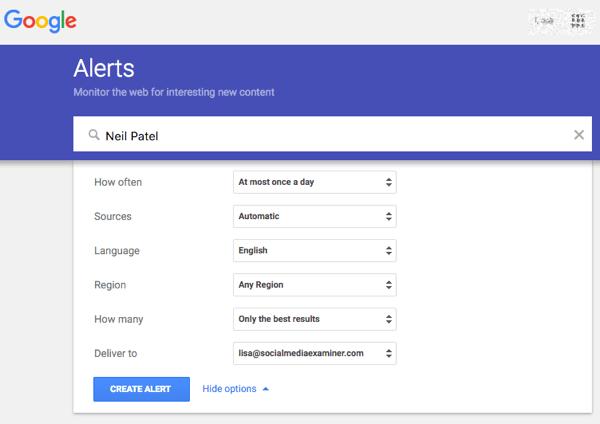 Google Alert eingerichtet