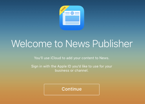 apple news publisher sign-in