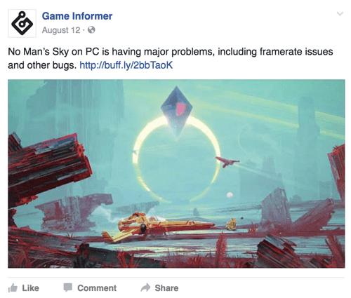 game informer facebook post