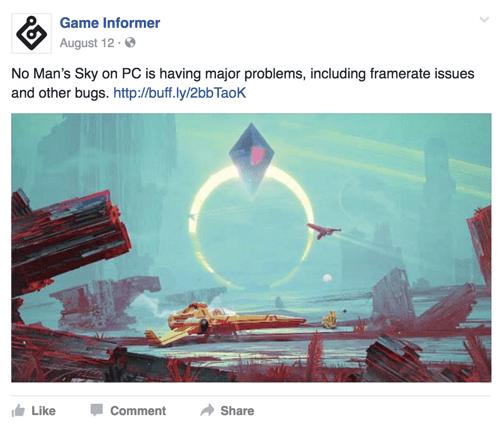 game informer facebook post