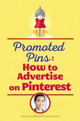Vincent Ng spricht mit Michael Stelzner darüber, wie man mit beworbenen Pins auf Pinterest wirbt.