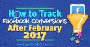 Track Facebook Conversions