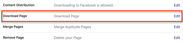 Find the option to download your page data in your Facebook settings.