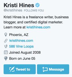 Fügen Sie Ihrem Twitter-Profil eine Nachrichtentaste hinzu.