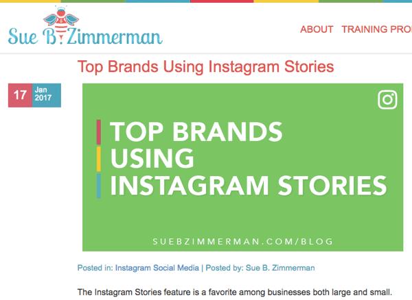 Social Media Examiner 2017 Top 10 Blog Contest winner, Sue B. Zimmerman.