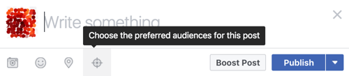 Click the targeting icon to add tags and restrictions with the Audience Optimization tool.