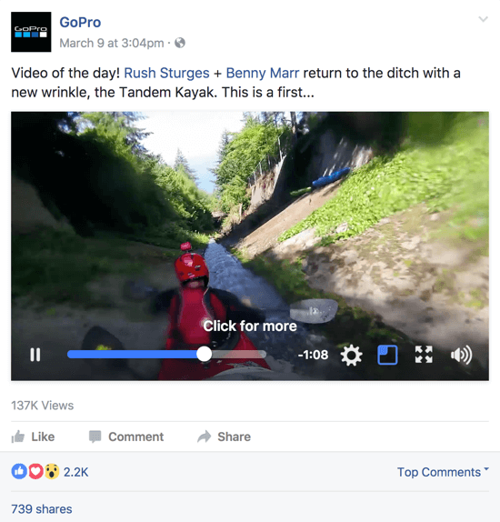 Facebook native video has a much wider reach than YouTube video that's shared.