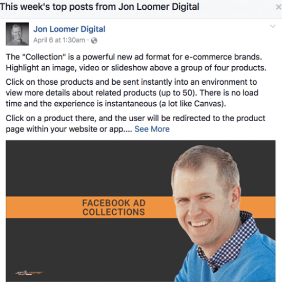 To view a competitor's top posts of the week, just click on their page's name.