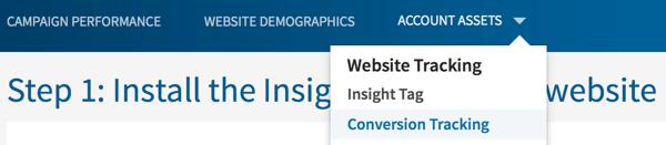 Verfolgen Sie Conversions für Ihre LinkedIn-Kampagnen.