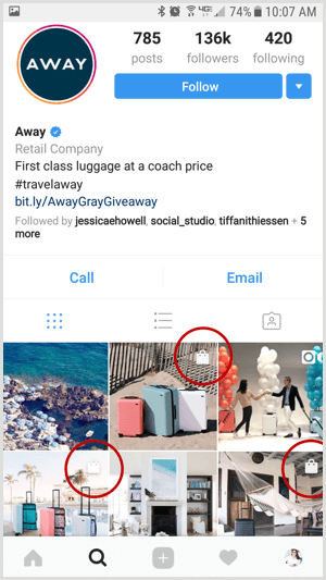 instagram shoppable post on business profile