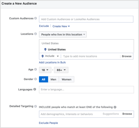Facebook ad split test ad sets