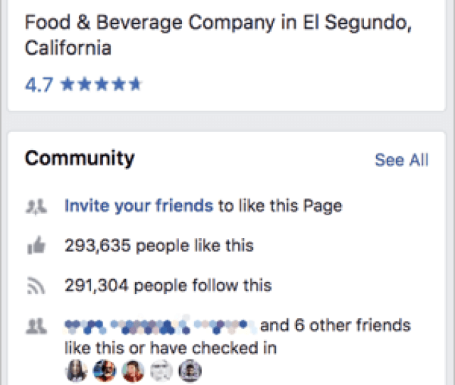 Facebook Network Connections On A Brand Page