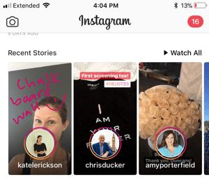 instagram instastories example